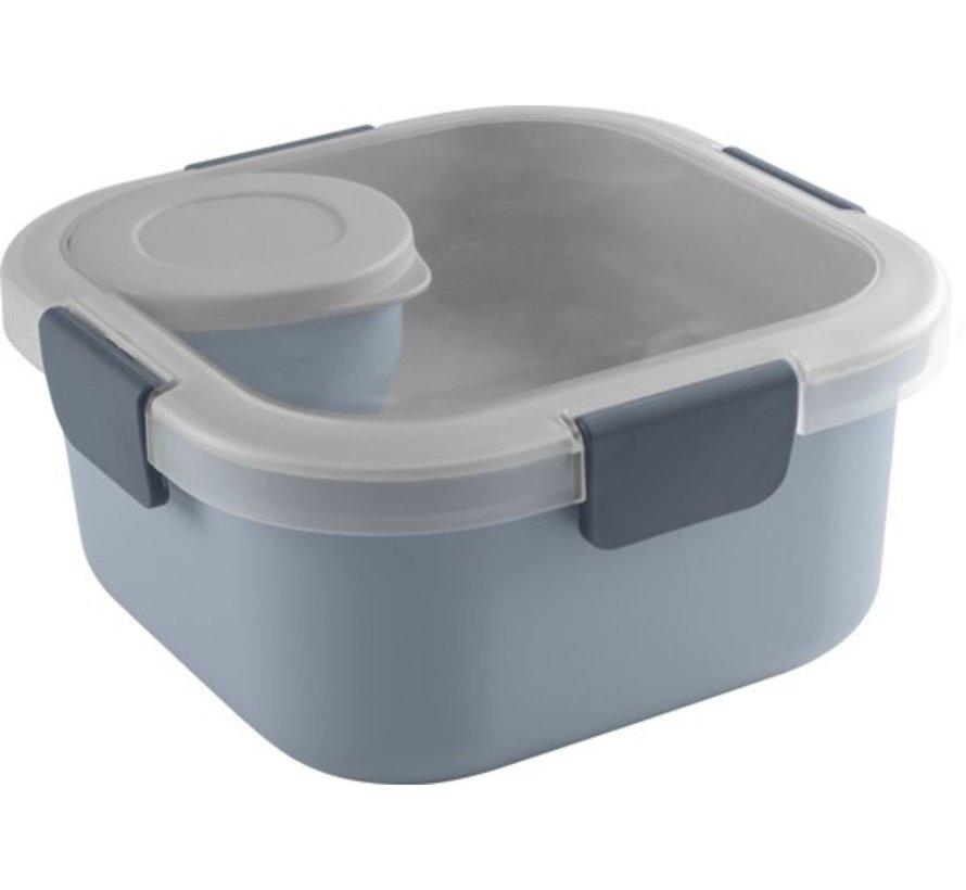Sunware Sigma Home - Food To Go Lunch Kit - 3 Delige Kit - Minibakje, Tray & Grote Bak - Blauw