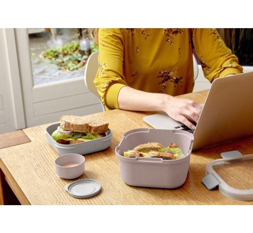 Sunware Sigma Home - Food To Go Lunch Kit - 3 Delige Kit - Minibakje, Tray & Grote Bak - Roze