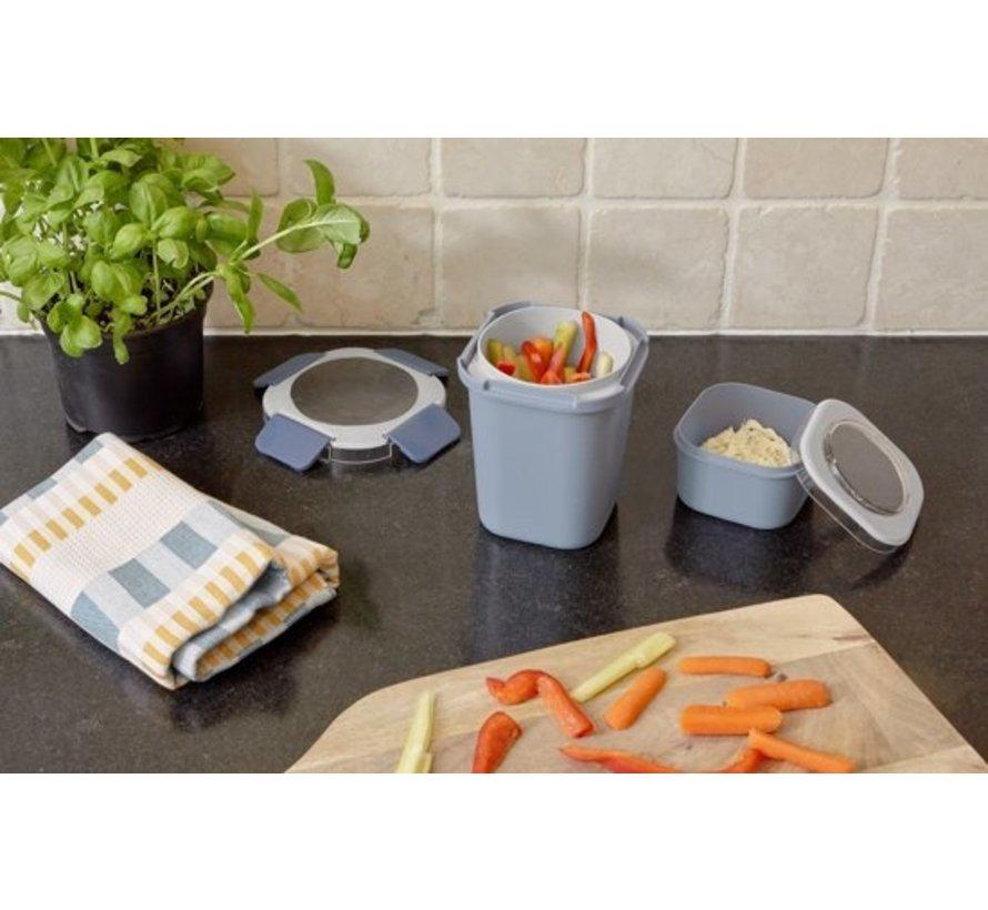 Sunware Sigma Home - Food To Go Lunchbeker - Incl. Apart Mini-Bakje - Blauw