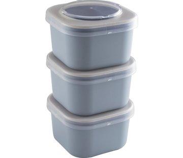 Sunware Sigma Home - Food To Go Lunchbakjes - Set Van 3 - Blauw