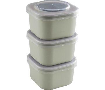 Sunware Sigma Home - Food To Go Lunchbakjes - Set Van 3 - Groen