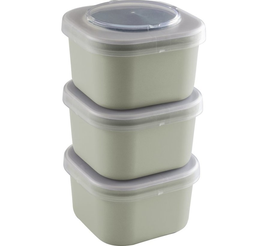 Sunware Sigma Home - Food To Go Lunch Trays - Set Of 3 - Green