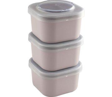 Sunware Sunware Sigma Home - Food To Go Lunchbakjes - Set Van 3 - Roze