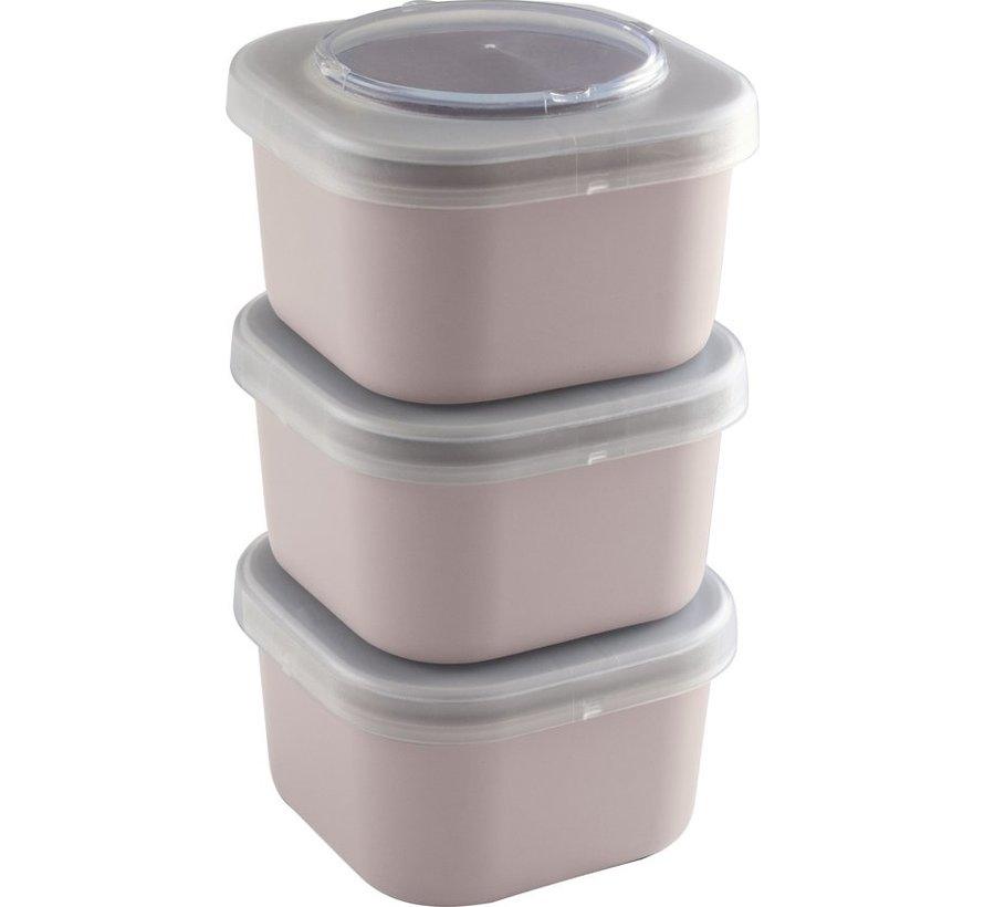 Sunware Sigma Home - Food To Go Lunchbakjes - Set Van 3 - Roze