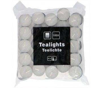 Waxinelichtjes - Wit - 100 Stuks