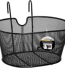 Zwarte draadstaal fietsmand (Dunlop) 20L