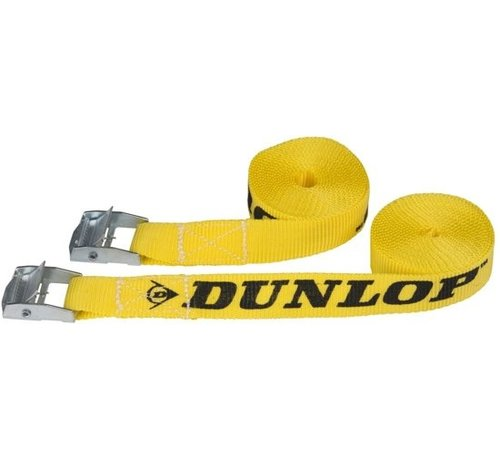 Dunlop Spanbanden 20  x  2500 Mm Pp 100 kg Geel 2 Stuks