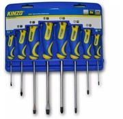 Kinzo 8-delige schroevendraaier set in houder