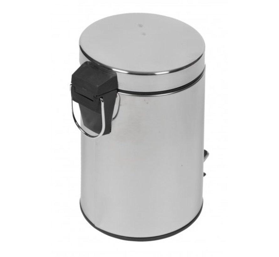 Pedal bin Chrome with Inner bin | 3 liter