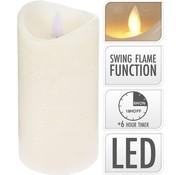LED Kaars realistic flame & Timerfunctie 8.5x10 cm - LED Kaarsen