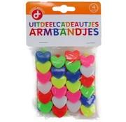 Loot Presents Bracelets Heart Shape 4 Pieces