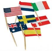 80 Cocktailprikkers met Landen Vlaggen Internationaal - Vlaggenprikkers