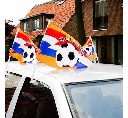 Auto-Flaggen-Holland   2 Stücke