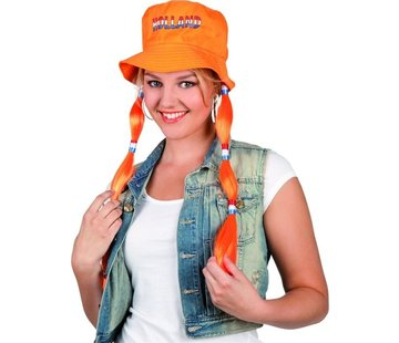 Hoed Vlechten - Oranje