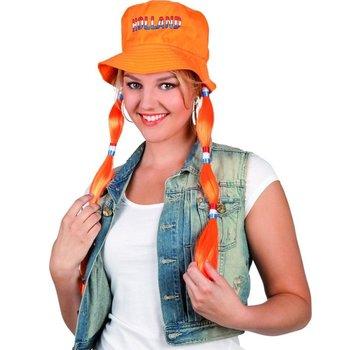 Hoed met Vlechten - Oranje