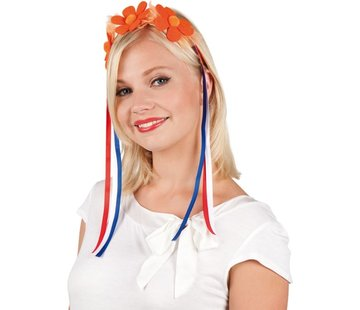 Tiara mit Blumen - Orange