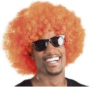 St. Pruik Afro oranje
