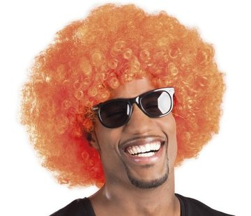 St. Afro Perücke orange