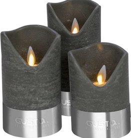 Led Kaarsen m/bewegende vlam 3dlg