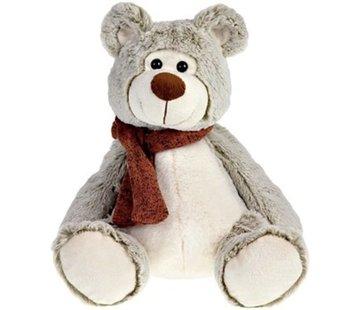 Bear Plush Sitting Br./Bei. 30 cm