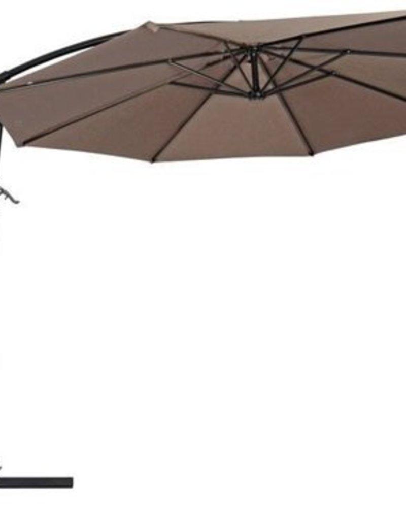 Zweefparasol Gemini taupe 3mtr