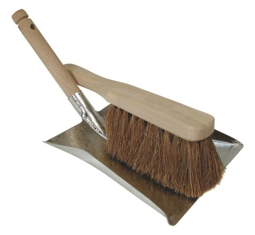 Dustpansatz Verzinkte / Holz / Kokos Haar für Außen