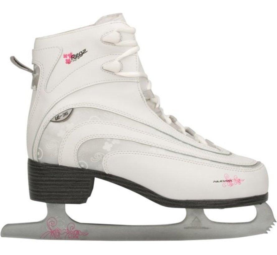 Nijdam 0036 Figure Skate Classic Decor - Soft Boot - Women - White - Size 39