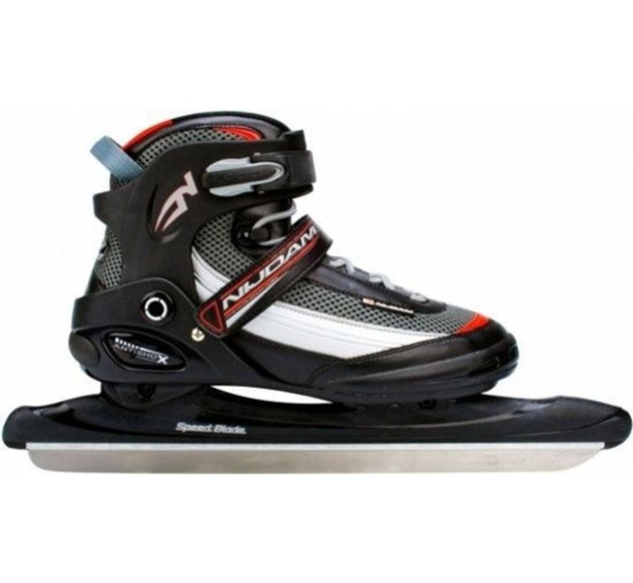 Norwegians Nijdam Pro-Line Skates - Size 38- 47 - Black with Red And Gray