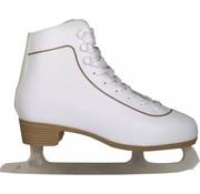 Nijdam Nijdam 0043 Eiskunstlauf Klassische Leder - Herren - Weiß - Größe 36