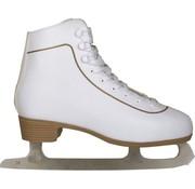 Nijdam Nijdam 0043 Eiskunstlauf Klassische Leder - Herren - Weiß - Größe 38