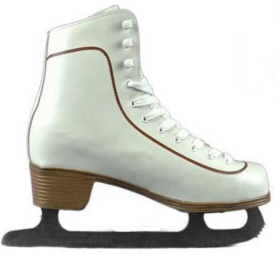 Nijdam 0043 Eiskunstlauf Klassische Leder - Herren - Weiß - Größe 38