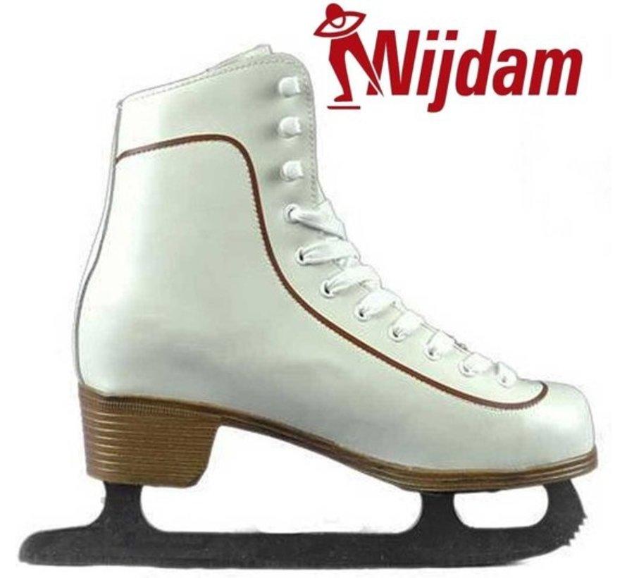 Nijdam 0043 Eiskunstlauf Klassische Leder - Herren - Weiß - Größe 39