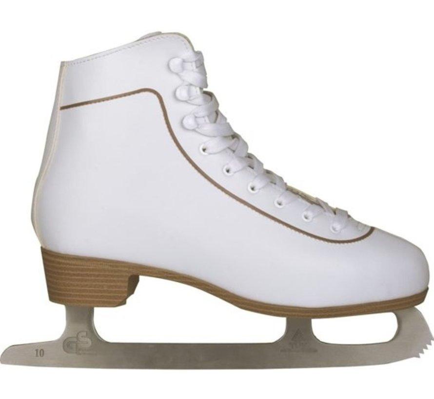 Nijdam 0043 Eiskunstlauf Klassische Leder - Herren - Weiß - Größe 42