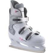 Nijdam Nijdam 0031 Figure Skate - Hard Boot - White - Size 39