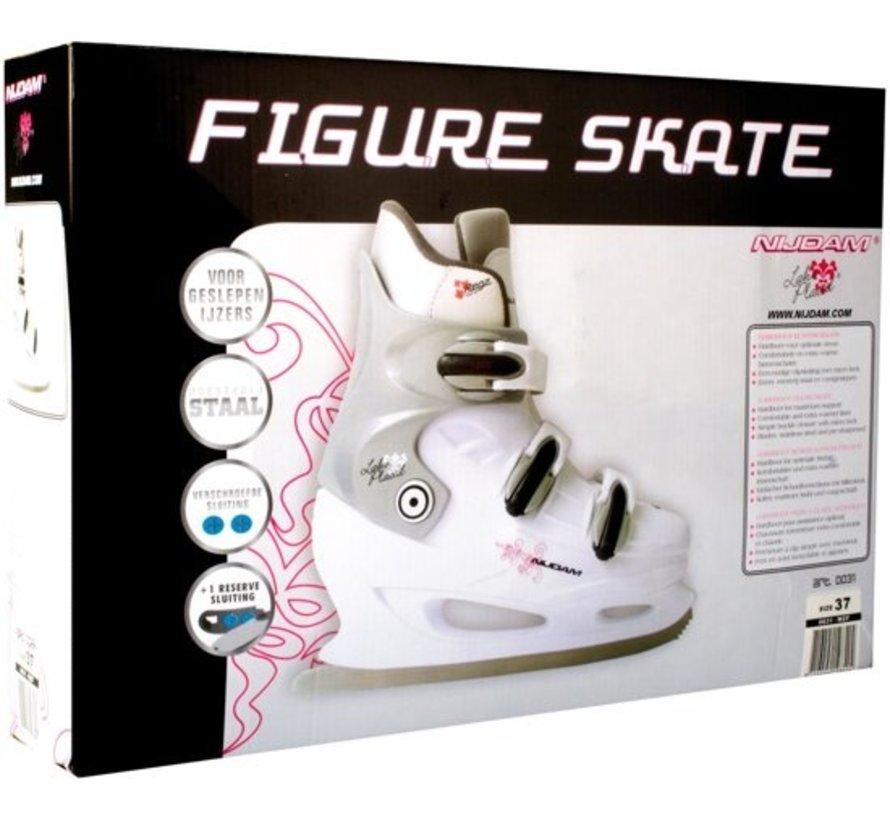 Nijdam 0031 Zahl Skate - Hard Boot - Weiß - Größe 43