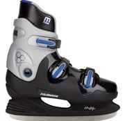 Nijdam 0089 Ijshockeyschaats - Hardboot - Zwart/Blauw - Maat 41