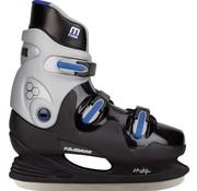 Nijdam 0089 Ijshockeyschaats - Hardboot - Zwart/Blauw - Maat 44