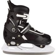 Nijdam Nijdam 3170 Junior Ice Hockey Skates - Adjustable - Semi Soft Boot - Black / White - Size 33-36