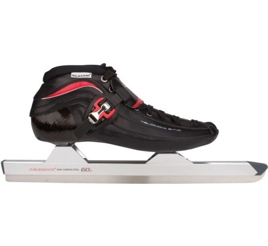 Nijdam 3420 Noren - Skating - Erwachsene - Schwarz / Rot - Größe 40