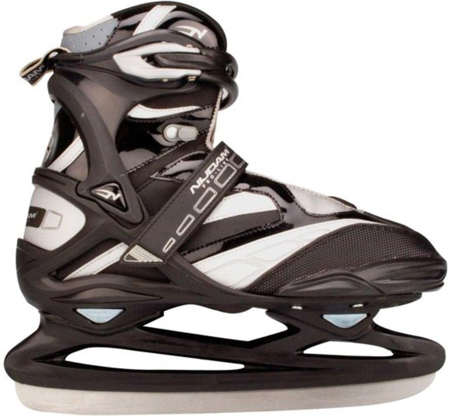 Nijdam 3382 Pro Line Ijshockeyschaats - Schaatsen - Unisex - Volwassenen - Zwart - Maat 45