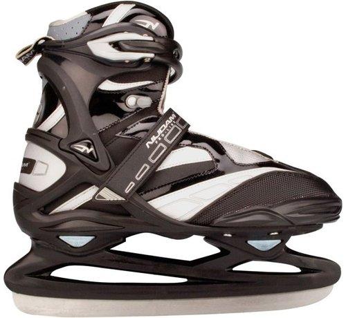 Nijdam 3382 Pro Line Ijshockeyschaats - Schaatsen - Unisex - Volwassenen - Zwart/Zilver - Maat 47
