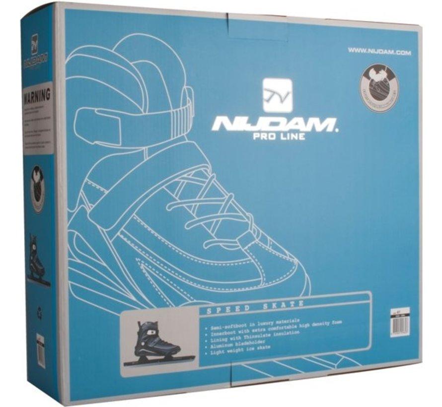 Nijdam 3429 Norwegians Skate Pro-Line - Semi Soft Boot - Black / Gray - Size 42