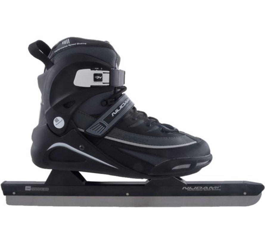 Nijdam 3429 Norwegians Skate Pro-Line - Semi Soft Boot - Black / Gray - Size 43