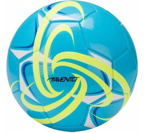 Avento Voetbal Glossy - Fluor - Azuurblauw/Fluorgeel/Kobalt/Wit - 5