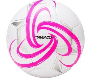 Avento Voetbal Glossy - Fluor - Wit/Fluorroze/Zilver/Zwart - 5