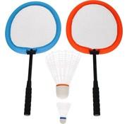 Get & Go Badminton Set - XXL - Blauw/Oranje
