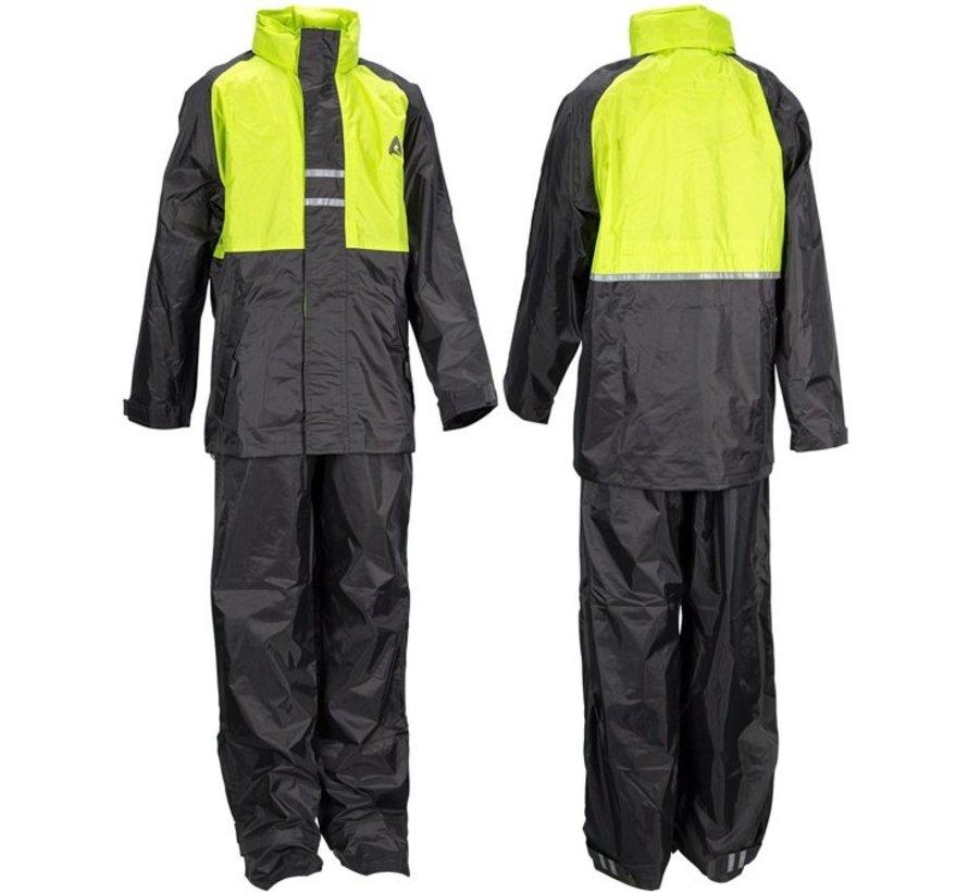Ralka Regenpak - Kinderen - Unisex - Maat 152 - Lime/Antraciet