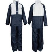 Ralka Regenpak - Kinderen - Unisex - Maat 164 - Marine/Wit