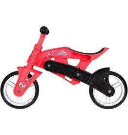 Nijdam Junior Loopfiets Verstelbaar - N Rider - Roze/Zwart
