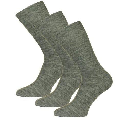 H. Sok Wool Uni Grijs Maat 39-42 P/3